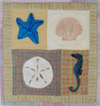 Ocean Treasures Felted Applique Mini Quilt